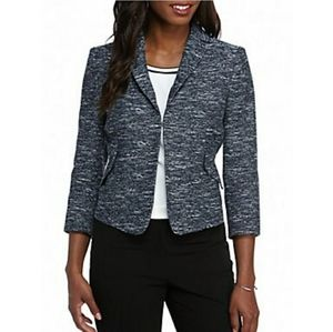 Tommy Hilfiger Blue&White Faux Tweed Blazer Size 8